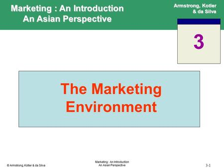 Marketing : An Introduction The Marketing Environment