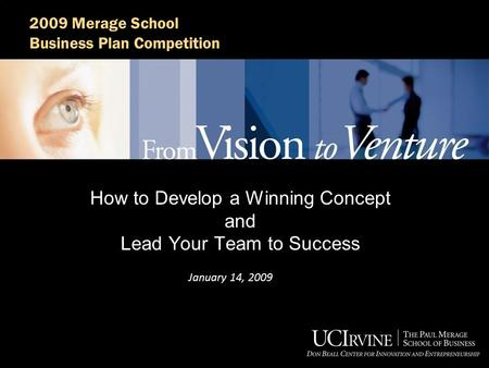 How to Develop a Winning Concept and Lead Your Team to Success