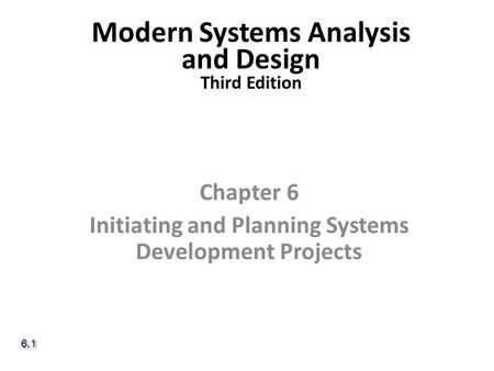 Modern Systems Analysis and Design Third Edition