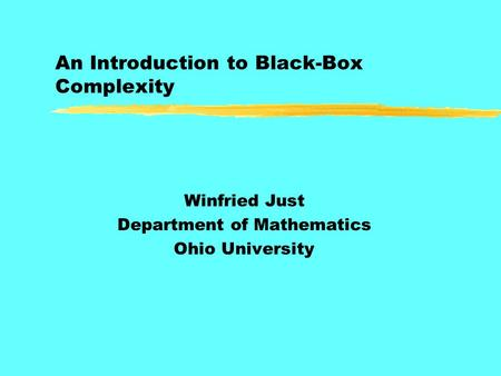 An Introduction to Black-Box Complexity