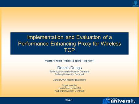 tcp master thesis
