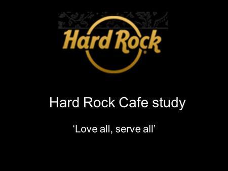 hard rock cafe swot analysis