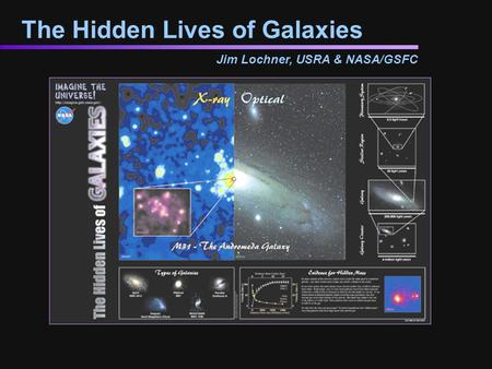 The Hidden Lives of Galaxies Jim Lochner, USRA & NASA/GSFC.