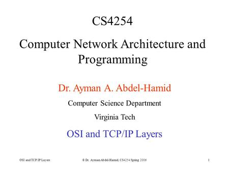 Computer Network Architecture and Programming