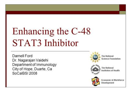 Enhancing the C-48 STAT3 Inhibitor