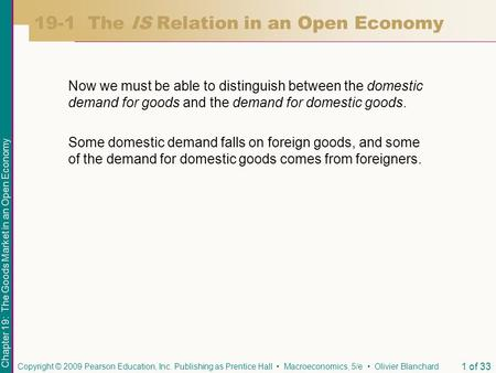 19-1 The IS Relation in an Open Economy