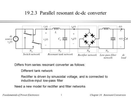 Parallel resonant dc-dc converter