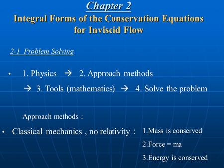 2-1  Problem Solving 1. Physics      2. Approach methods