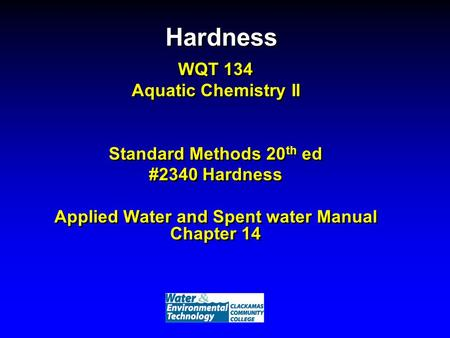 Applied Water and Spent water Manual Chapter 14