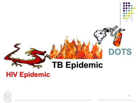 National TB Program Indonesia 1 TB Epidemic DOTS HIV Epidemic.