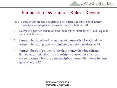 How corporations treat non-liquidating distributions definition