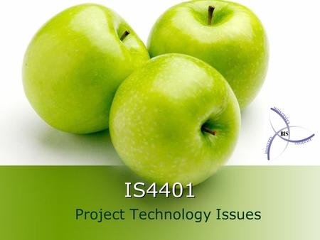 IS4401 Project Technology Issues. Introduction This seminar covers Databases When to use a Database What Database to use Development Tools Visual Studio.