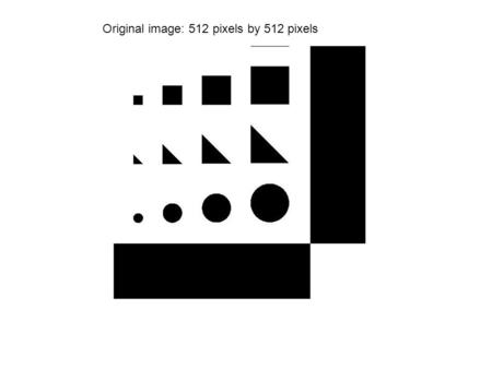 Original image: 512 pixels by 512 pixels. Probe is the size of 1 pixel. Picture is sampled at every pixel (262144 samples taken)