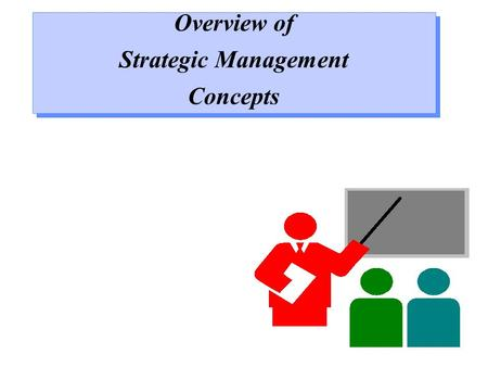 Overview of Strategic Management Concepts Overview of Strategic Management Concepts.