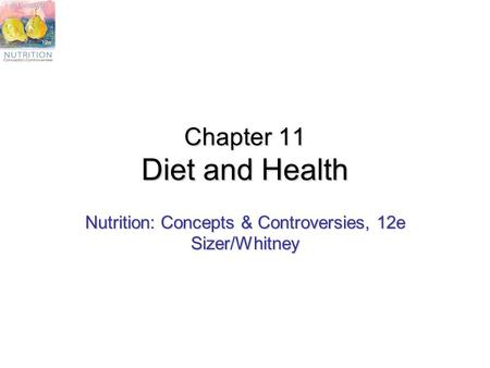 Chapter 11 Diet and Health