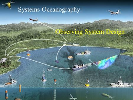 Systems Oceanography: Observing System Design. Why not hard-wire the system? Efficiency of interface management –Hard-wire when component number small,