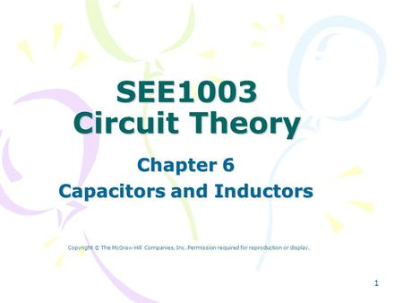 Chapter 6 Capacitors and Inductors