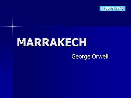 marrakech by george orwell critical essay
