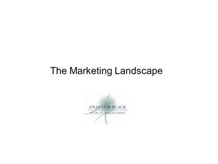 The Marketing Landscape. Partnering & Packaging Creates authentic experiences that provide a unique sense of place Keeps visitors in town longer Stretches.