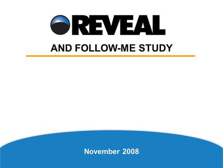 November 2008 AND FOLLOW-ME STUDY. Church-Related Activities Church-Related Activities Are Most Catalytic to Spiritual Growth in the Early Stages.