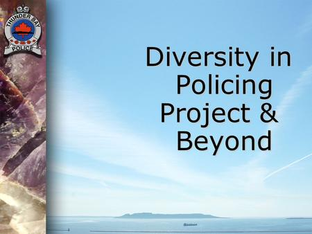 Diversity in Policing Project & Beyond.