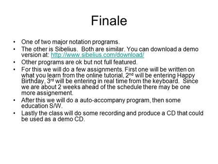 Finale One of two major notation programs.