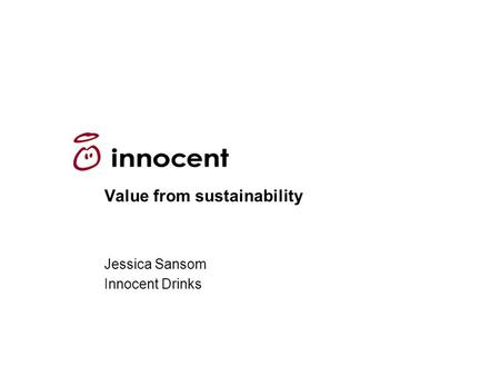 Value from sustainability