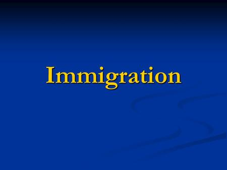 Immigration. What measures are taken (have been taken) by your government in order to integrate the immigrants and solve these problems?