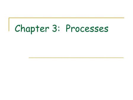 Chapter 3: Processes. Process Concept Process Scheduling Operations on Processes Cooperating Processes Interprocess Communication Communication in Client-Server.