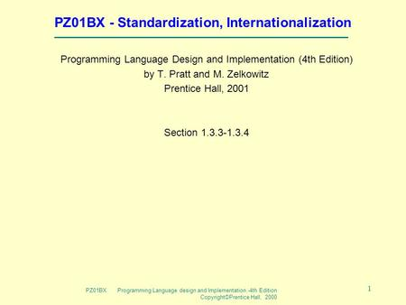 Programming Language Design And Implementation By Pratt+ebook+