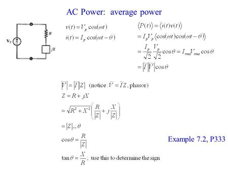 AC Power: average power