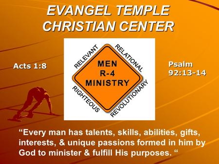 EVANGEL TEMPLE CHRISTIAN CENTER
