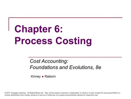 Chapter 5 Job Order Costing Ppt Download