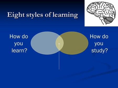 How do you learn? How do you study? Eight styles of learning.