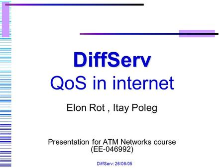 DiffServ QoS in internet