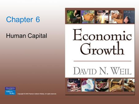 Chapter 6 Human Capital. Copyright © 2005 Pearson Addison-Wesley. All rights reserved. 6-2.