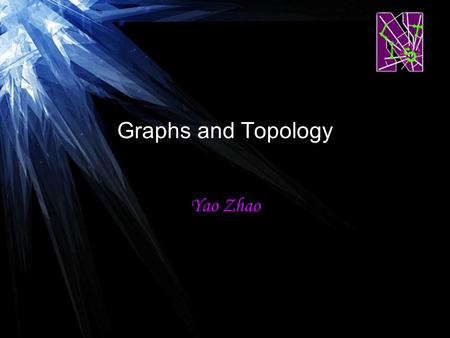 Graphs and Topology Yao Zhao. Background of Graph A graph is a pair G =(V,E) –Undirected graph and directed graph –Weighted graph and unweighted graph.