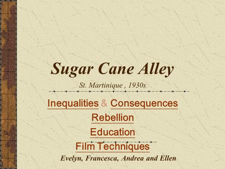 sugar cane alley movie summary
