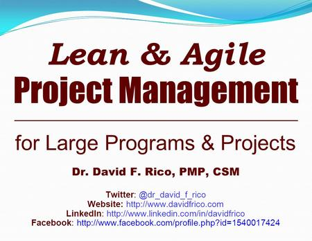 Lean & Agile Project Management