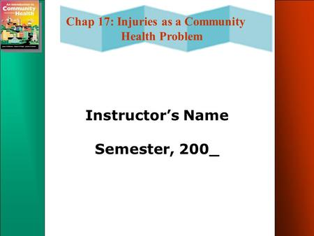 Instructor's Name Semester, 200_