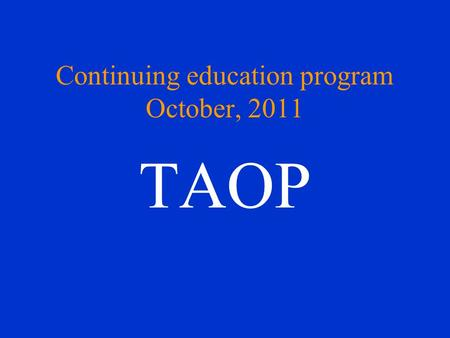 Continuing education program October, 2011 TAOP. Chief complaint CC: Ulcerations on the bilateral buccal mucosae and gingival bleeding after tooth brushing.
