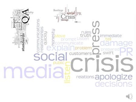 The proliferation of social media Word of Mouth– before and after… Crisis communication networks– Nature article.