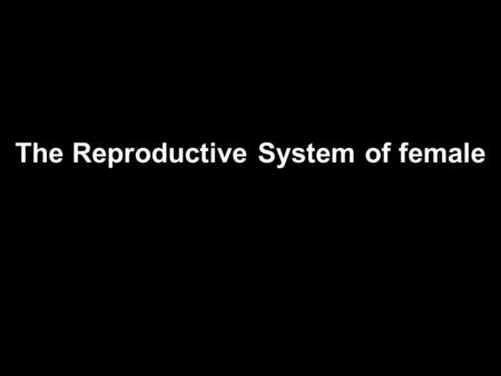 The Reproductive System of female Oviducts and Uterus 1. Female system not completely closed 2. Egg cell released into abdominal cavity near oviduct—