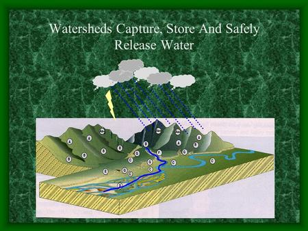 Watersheds Capture, Store And Safely Release Water.