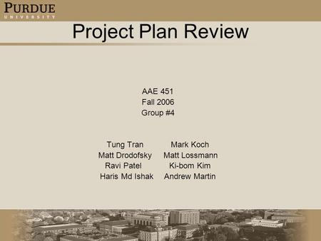 Click to edit Master title style Click to edit Master text styles Second level Third level Fourth level Fifth level 1 Project Plan Review AAE 451 Fall.