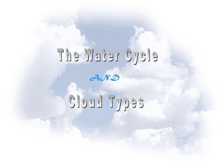 The Water Cycle AND Cloud Types.