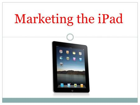 ipad marketing