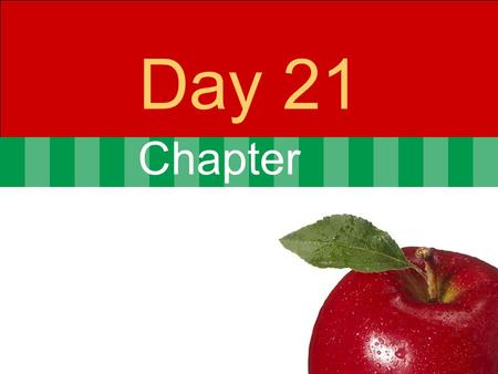 Chapter Day 21. © 2007 Pearson Addison-Wesley. All rights reserved7-2 Agenda Day 20 Problem set 4 Posted  10 problems from chapters 7 & 8  Due Nov 21.