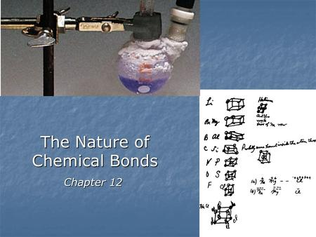 The Nature of Chemical Bonds
