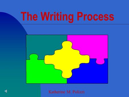 The Writing Process Katherine M. Polizzi n Students choose a topic n Consider function n Consider form n Consider audience n Generate and Organize ideas.